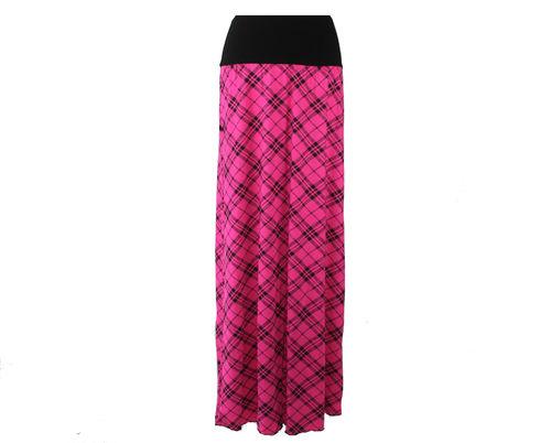 skirt maxi pink black