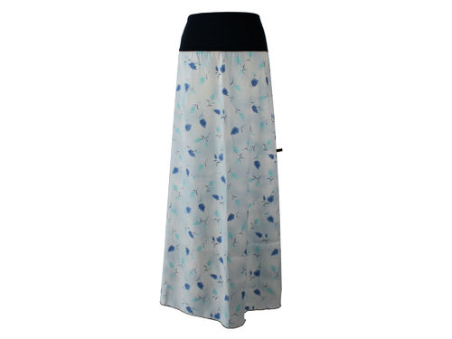 skirt maxi flowers blue