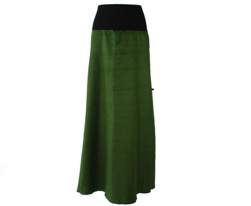 skirt maxi corduroy green