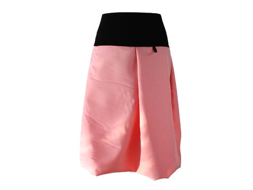bubble skirt midi pink