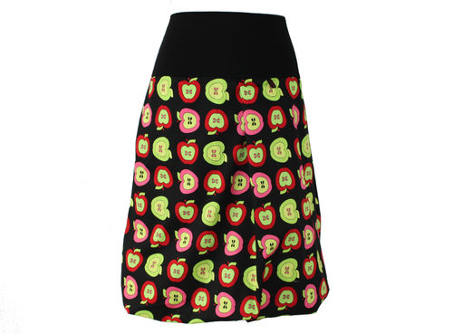 bubble skirt midi black apples