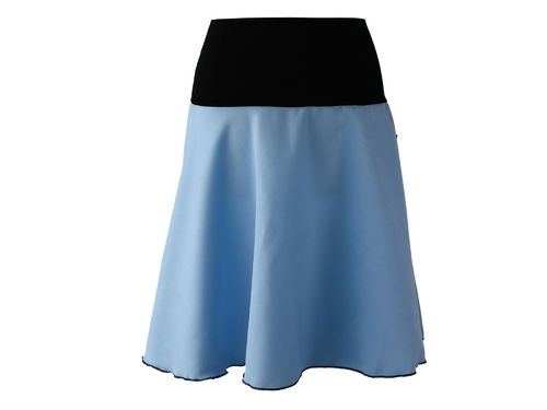 skirt midi light blue a-line