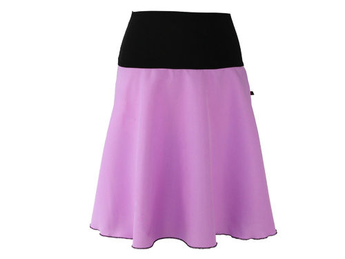 skirt midi purple a-line