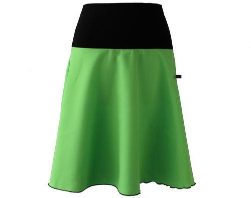 skirt midi green a-line