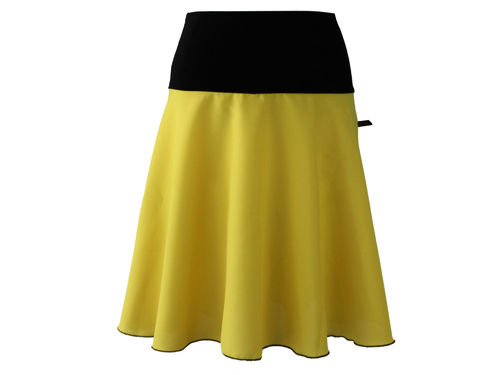 skirt midi yellow a-line