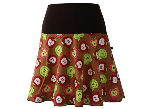 skirt mini brown apples