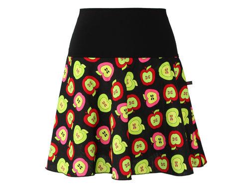 skirt mini black apples