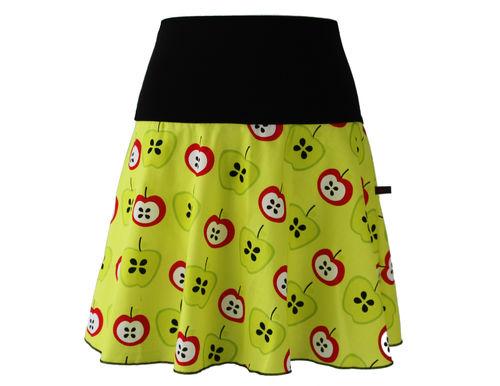 skirt mini yellow apples