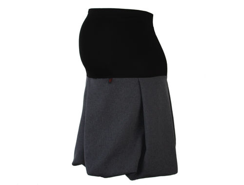 maternity skirt bubble gray