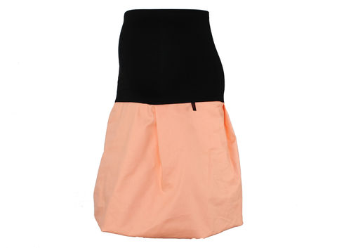 maternity skirt bubble jeans peach