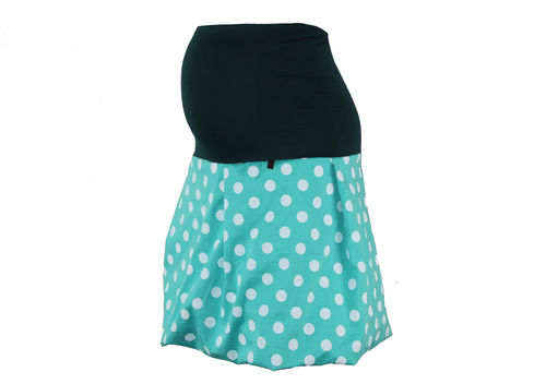 maternity skirt bubble dots mint