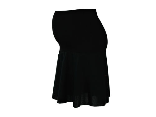 maternity skirt mini knit black