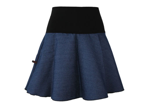 skirt jeans mini blue