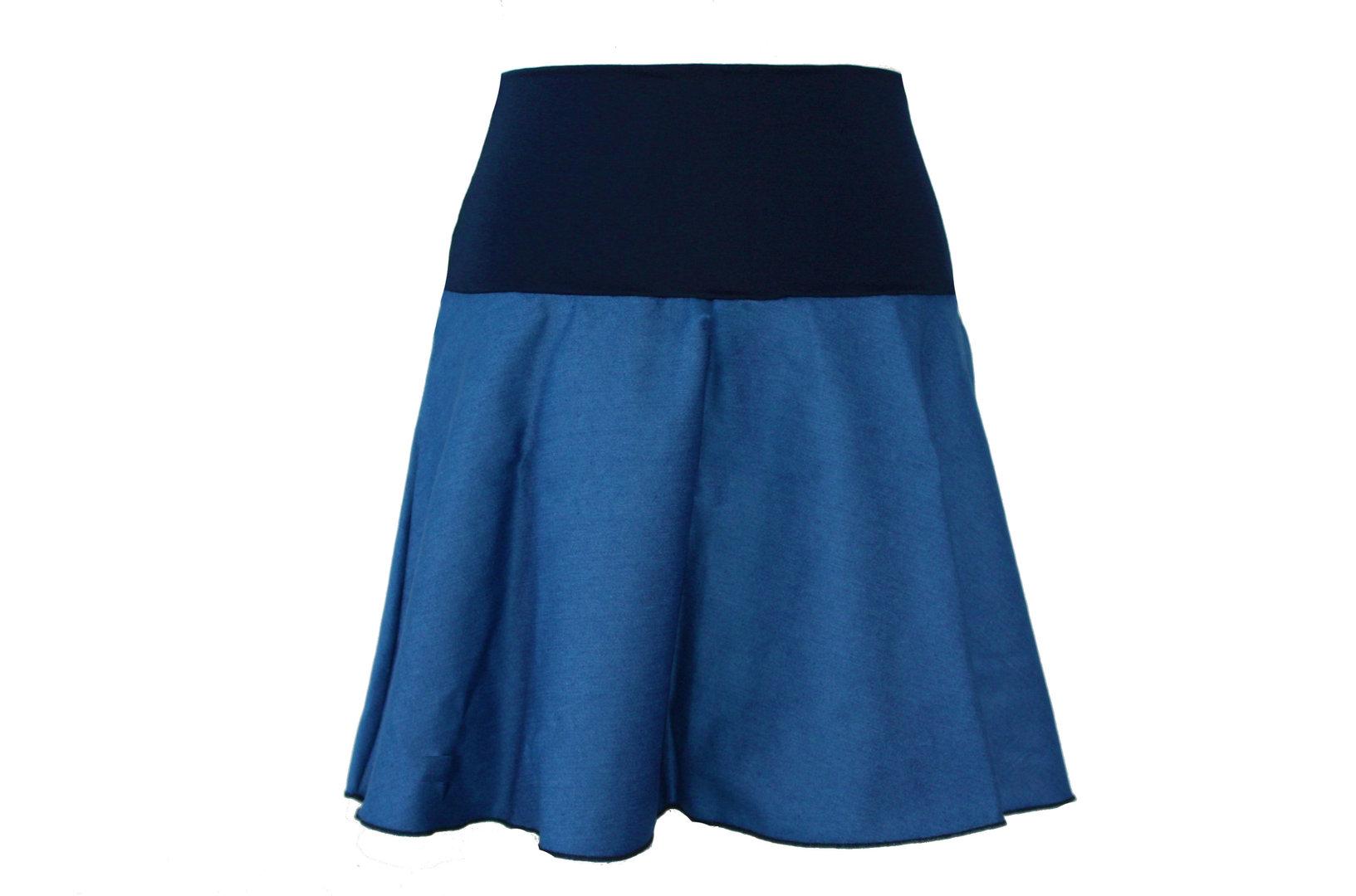 Jeansrock Mini Blau