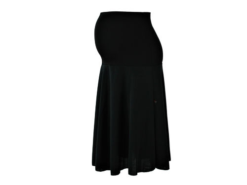 maternity skirt midi knit black
