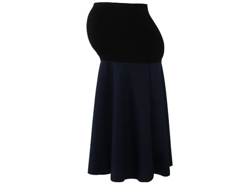 maternity skirt midi dark blue