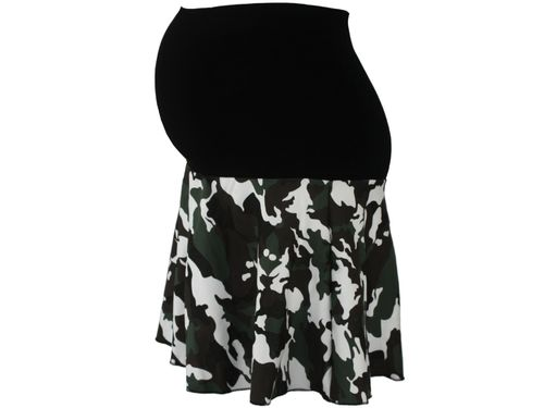 maternity skirt mini camouflage