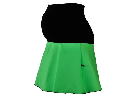 maternity skirt mini jeans green