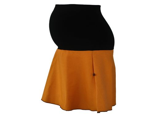maternity skirt mini jeans curry
