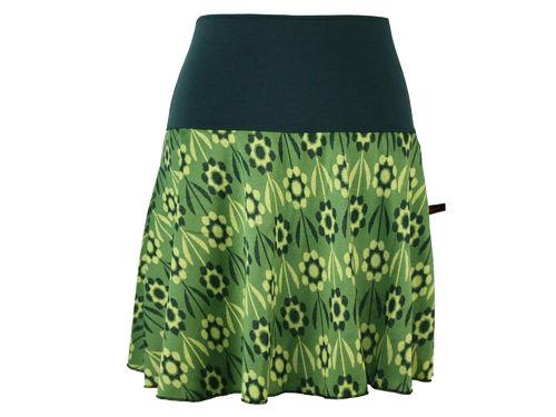 skirt mini knit green