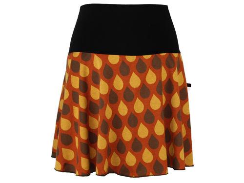 skirt mini knit brown