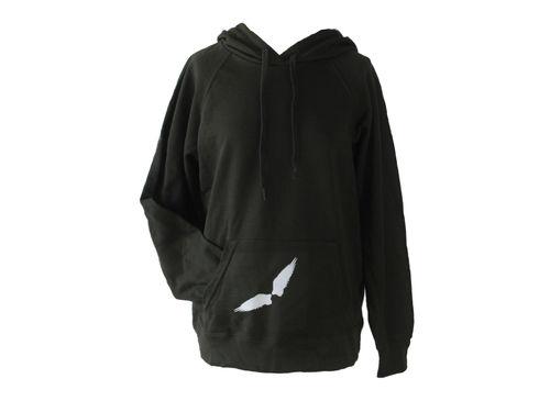 Hoodie Kapuzenpullover Grau Flügel