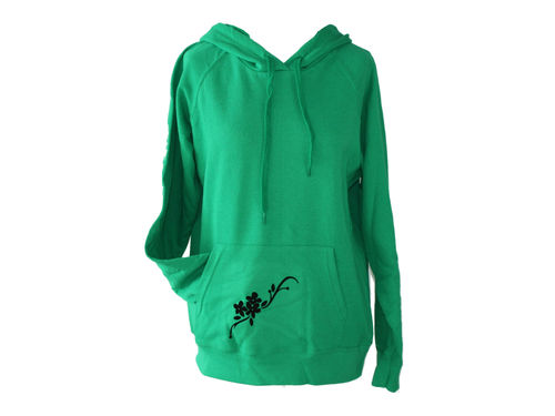 hoodie - sweater green flowers