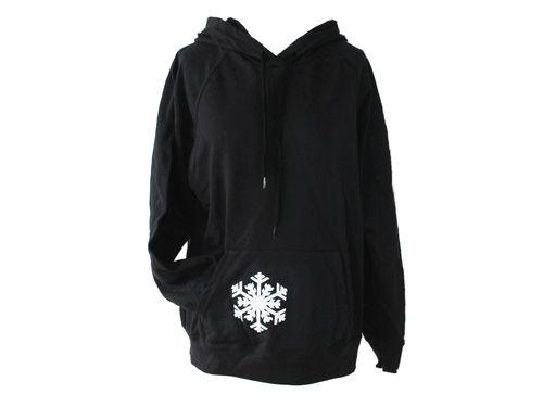 hoodie - sweater black snowflake