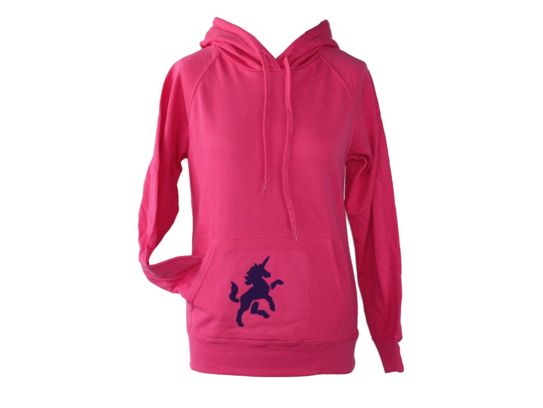 Hoodie Kapuzenpullover Pink Einhorm