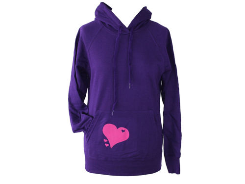 hoodie - sweater purple heart
