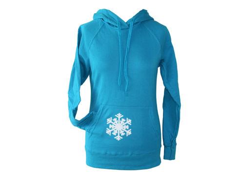 hoodie - sweater purple snowflake