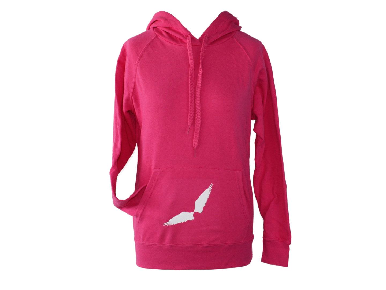 Hoodie Kapuzenpullover Pink Flügel
