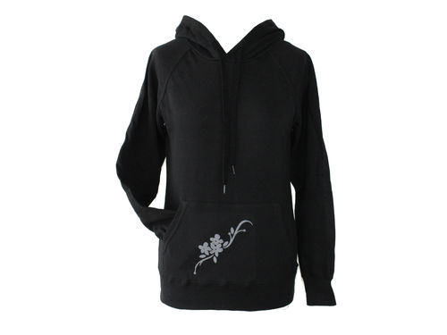hoodie - sweater black flower