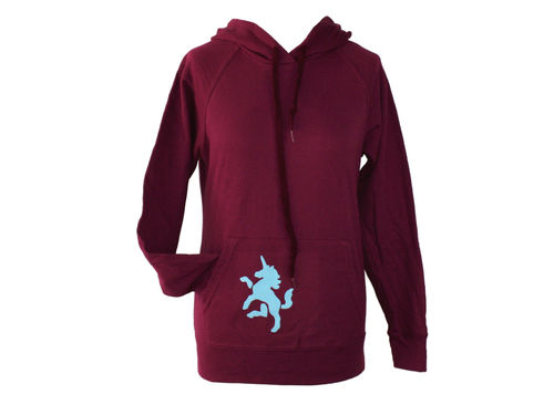 hoodie - sweater burgundy unicorn