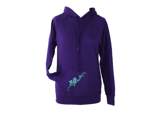 hoodie - sweater purple flower