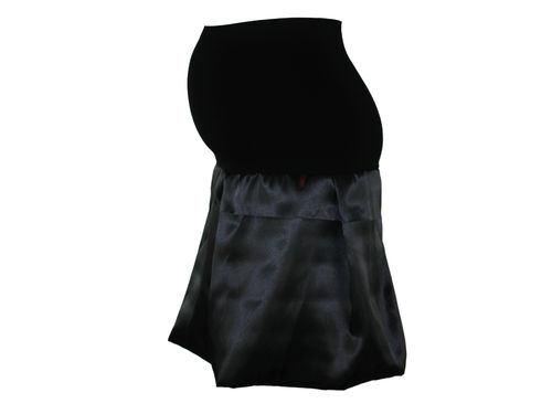 maternity skirt bubble sateen black