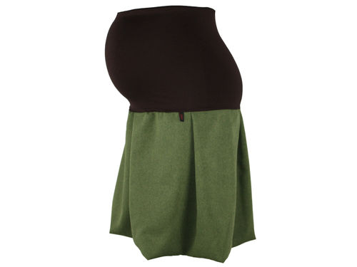 maternity skirt bubble green