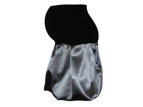 maternity skirt bubble sateen gray