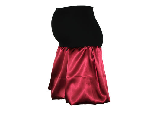 maternity skirt bubble sateen burgundy