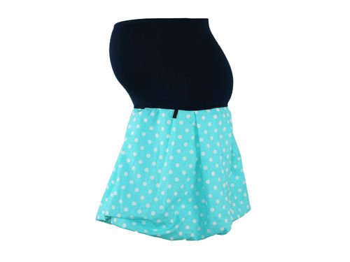 maternity skirt bubble dots aqua