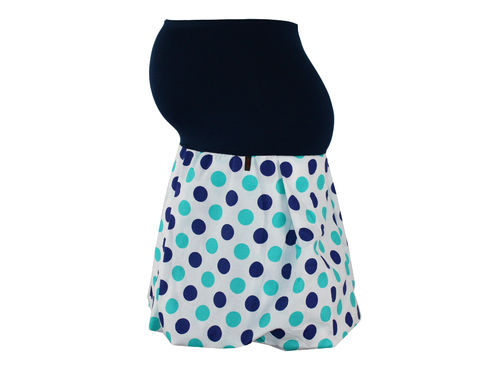 maternity skirt bubble dots blue