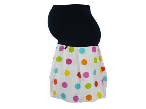 maternity skirt bubble dots colorful