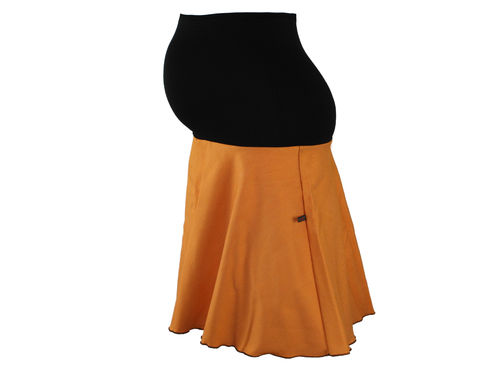maternity skirt jeans orange