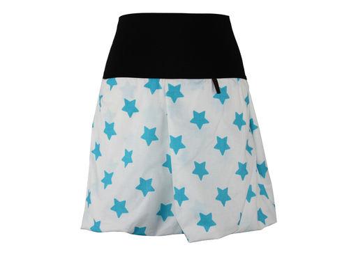 Ballonrock Mini Weiß Sterne