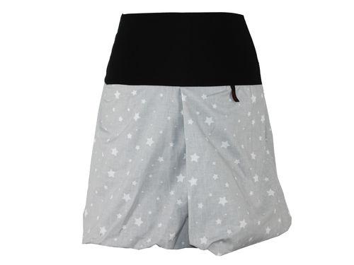 Ballonrock Mini Grau Sterne