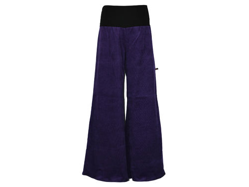marlene trousers cord Purple Cords Cotton Black Palazzo