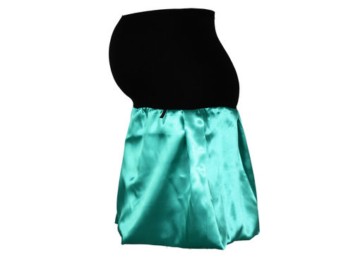 maternity skirt bubble Satin Turquoise Green Green Turquoise Skirt