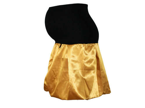 maternity skirt bubble Satin yellow mustard yellow skirt