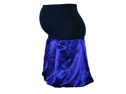 maternity skirt bubble Satin royal blue blue skirt