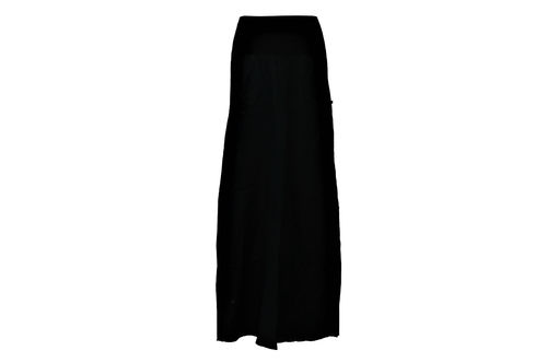 skirt maxi black long skirt uni linen